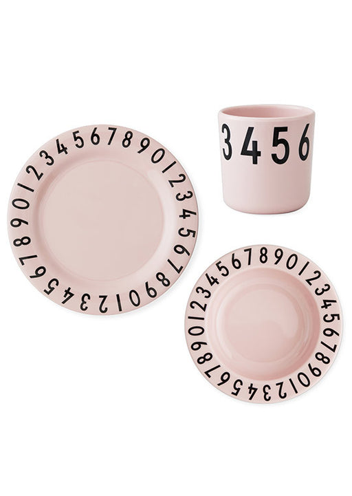 Design Letters Gift box The numbers melamine pack Pink