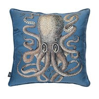 "Fornasetti Pillow 17.7"" x 17.7""  Silk Polipo Octopus"