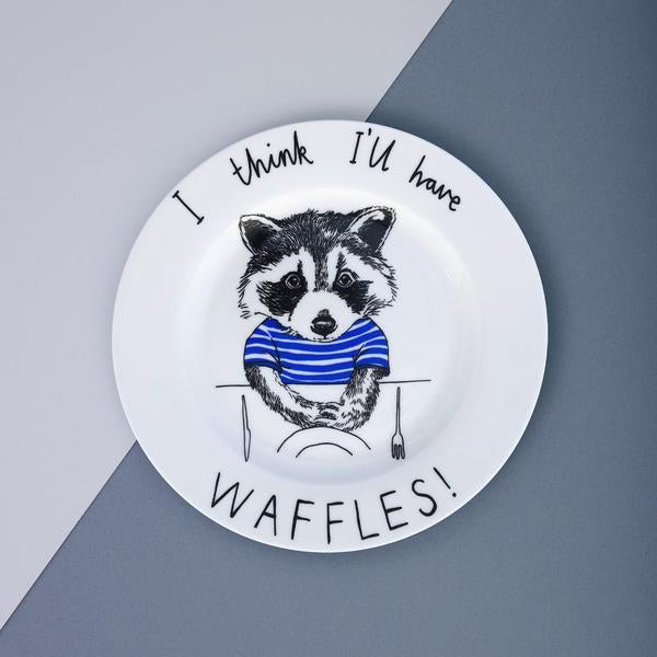 Raccoon Waffles Side Plate