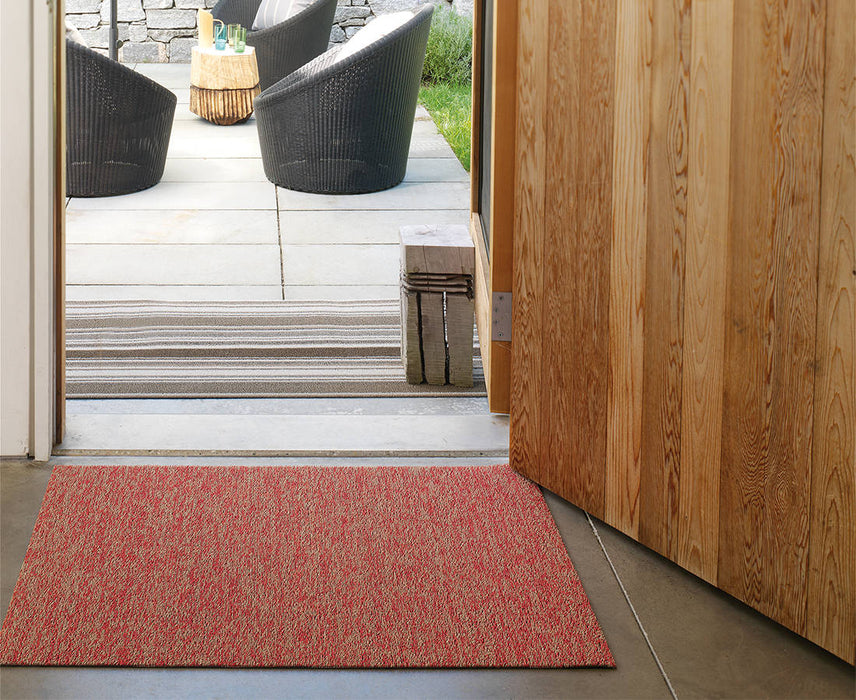 Chilewich Heathered Shag Mat in Guava