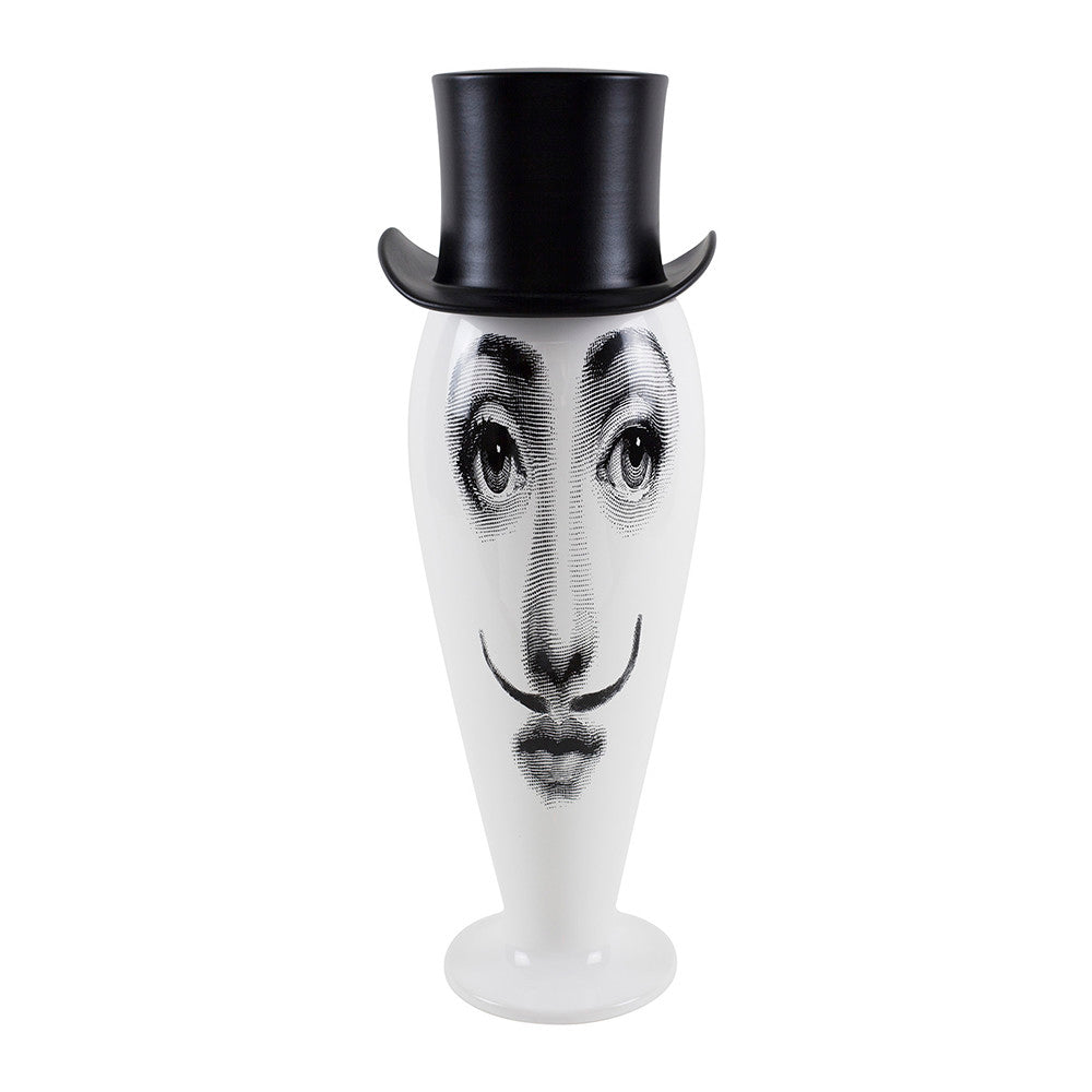 Fornasetti limited edition vase / jar tall top hat