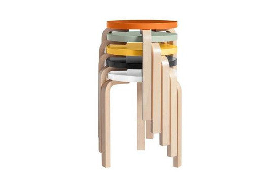 Alvar Aalto 60 stool birch with lacquered seat