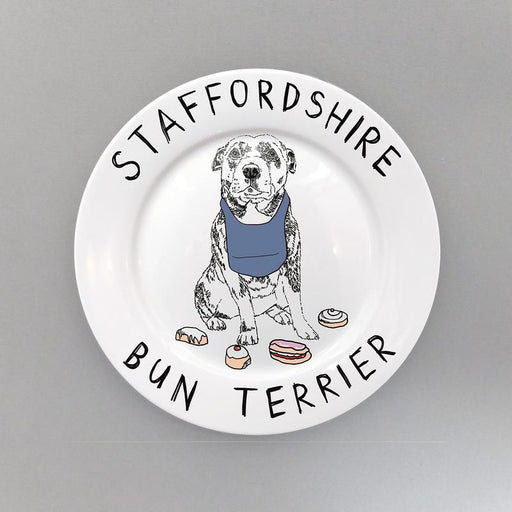 'Staffordshire Bun Terrier' Side Plate