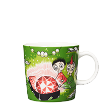 Moomin Arabia / iittala mug 300ml  / 10oz Thingumy and Bob Green