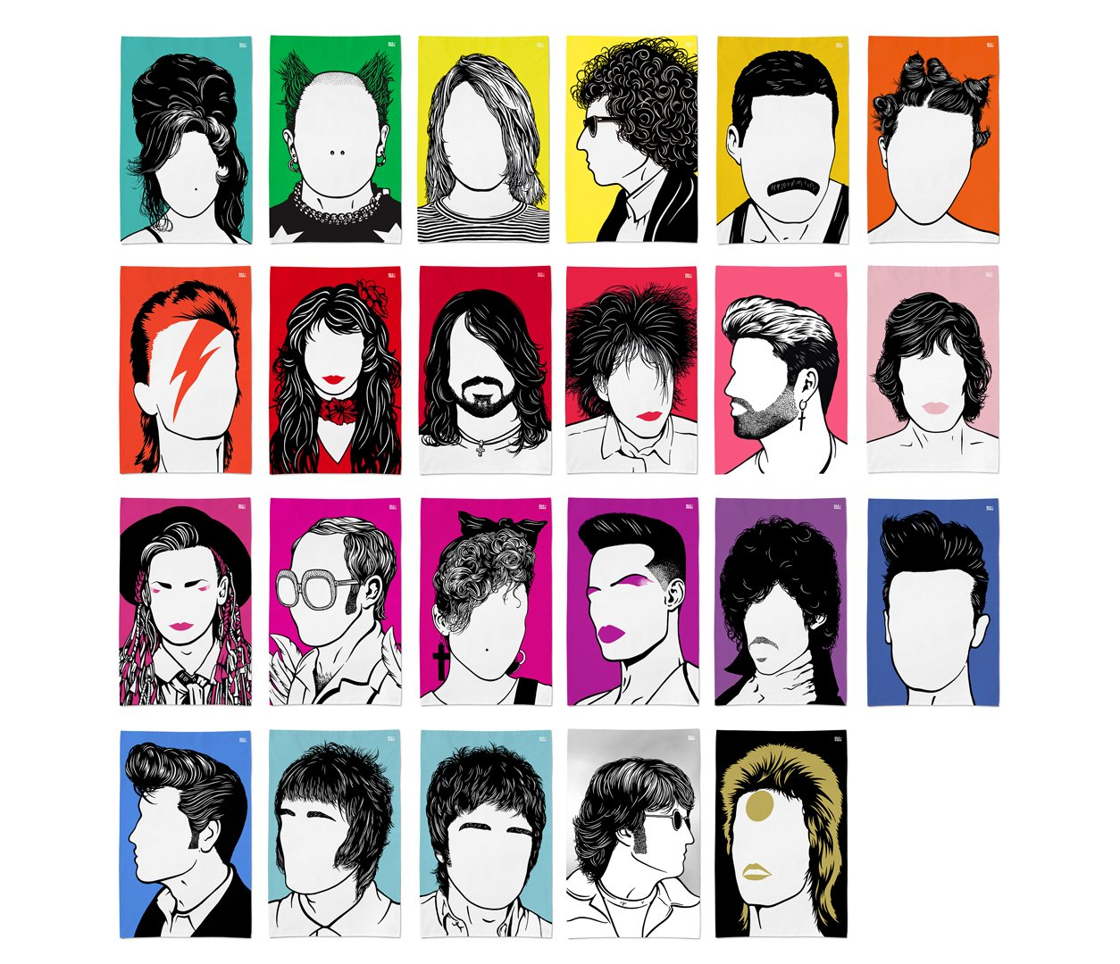 Rock Icon Tea Towels