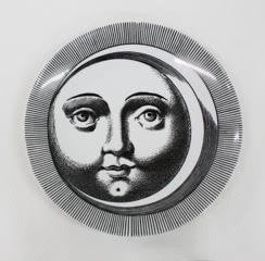 Fornasetti plate Sun and Moon collection