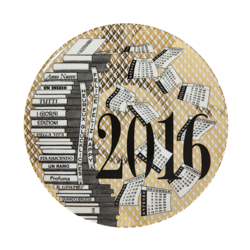 Fornasetti Plate Gold 2016