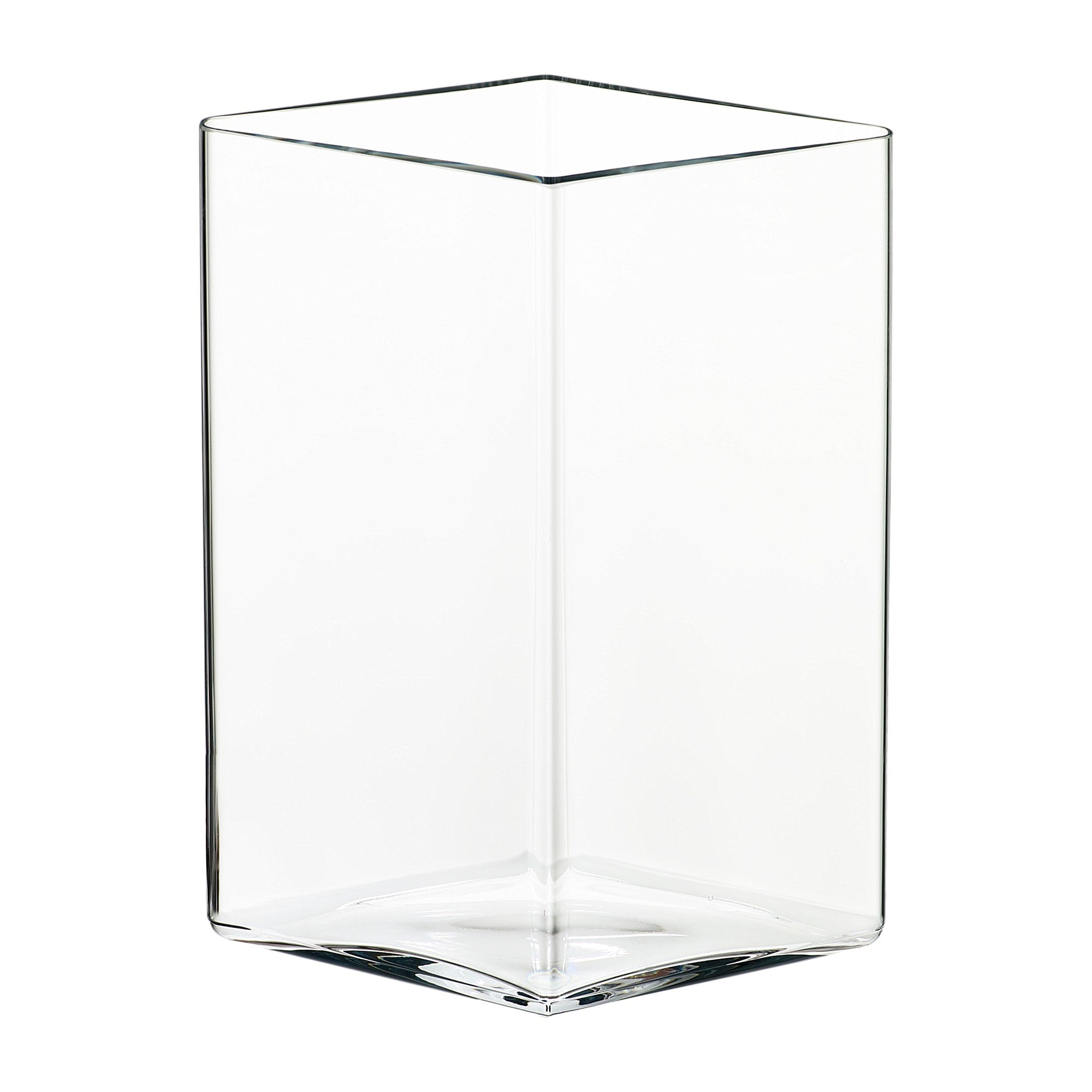 "Ruutu vase 205 x 270 mm / 8.25""x 10.75"" clear"