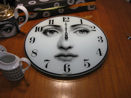Fornasetti Glass wall clock