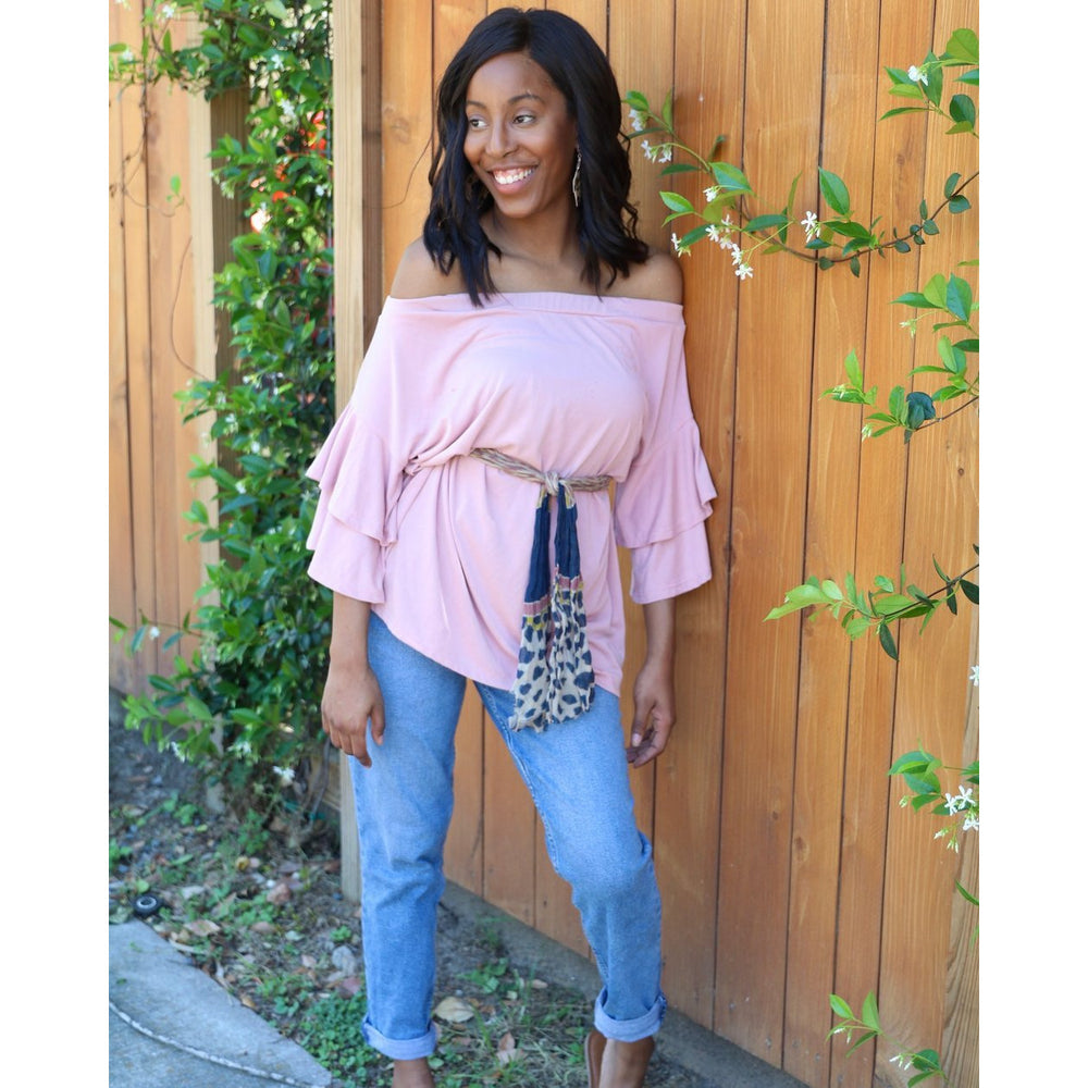 Southern Touch | Ruffle Sleeve Top