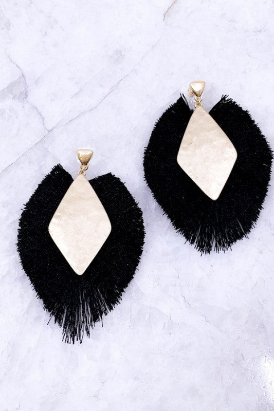 Black Fall Drop Earrings