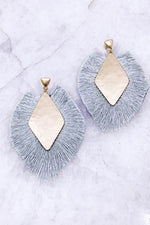 Grey Fall Drop Earrings