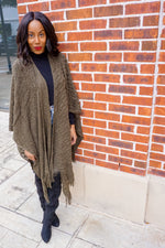 Olive Breeze | Poncho Sweater
