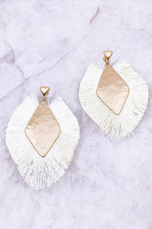Ivory Fall Drop Earrings