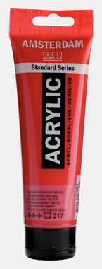 RAA TRANSPARENT RED MD 317 AMSTERDAM STANDARD ACRYLIC