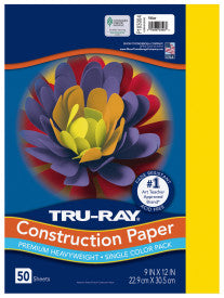 TRU-RAY YELLOW (Pacon Construction Paper)