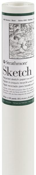 "Strathmore 400 Series Sketch Paper Roll, 36""x10yd"