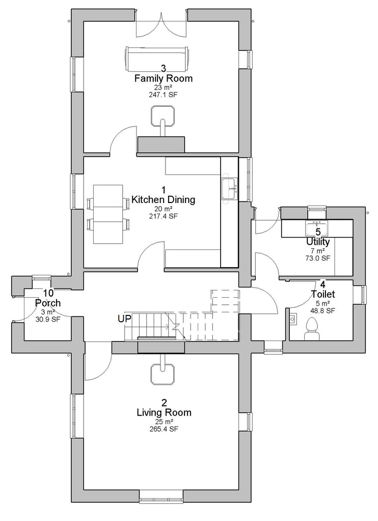 Traditional farmhouse plans ireland for Traditional farmhouse floor plans