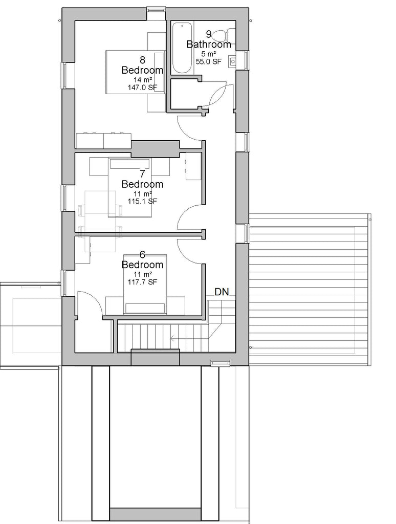 Irish cottage house plans -  Caragh House Plans First Floor Plan Traditional Irish Cottage