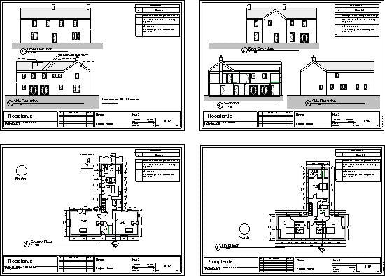 Delvin house plans all drawings
