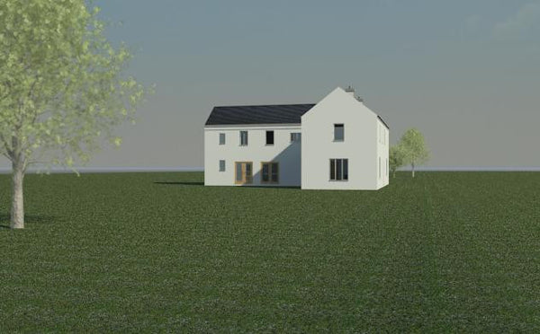 Delvin house plans Irish house design side elevation