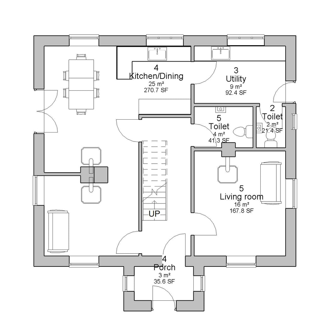 House plans architect designed irish house designs and Ground floor house plans