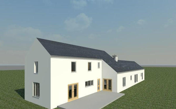 Vartry House plans  rear elevation