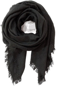 Black Soft Textured Blanket Scarf