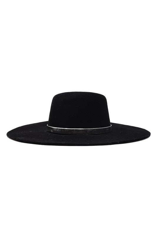 Black Wide Brimmed Panama Hat