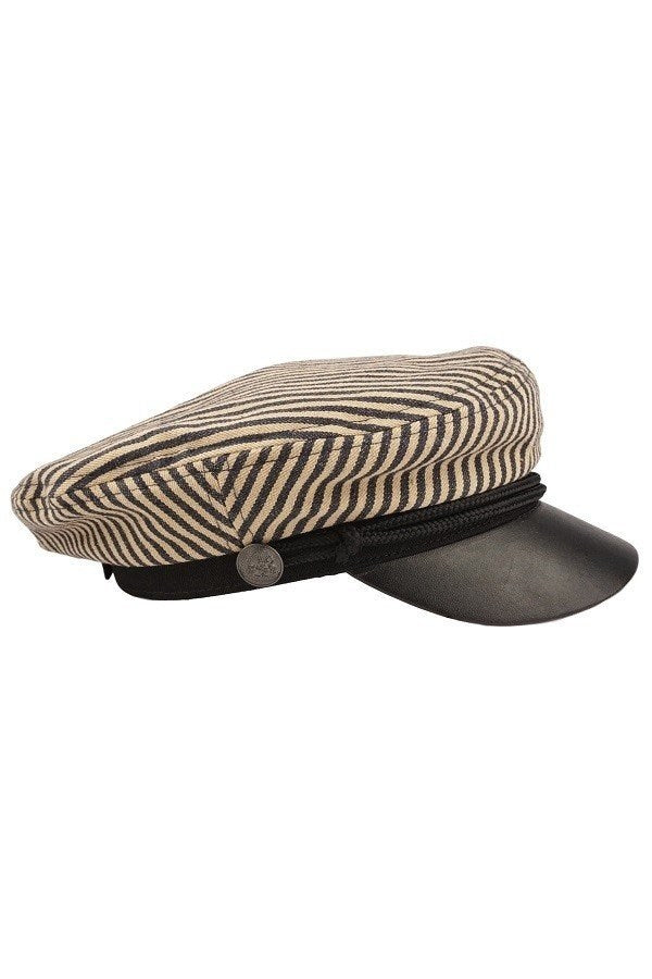 Striped Cotton Greek Fisherman Hat