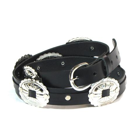 Oval Concho Black Belt