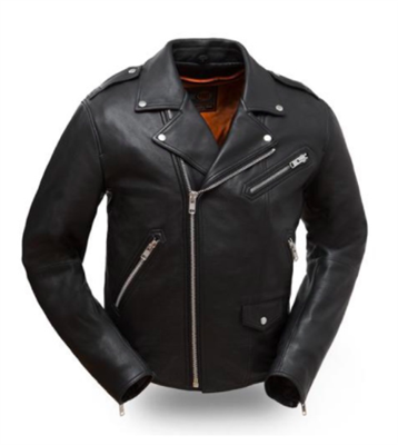 Men's Black Leather Enforcer Motorcycle Jacket