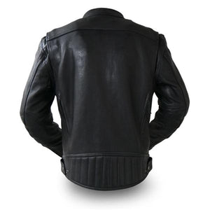 Men's Black Leather Top Performer Motorcycle Jacket