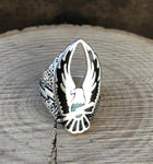 Open Eagle Biker Ring