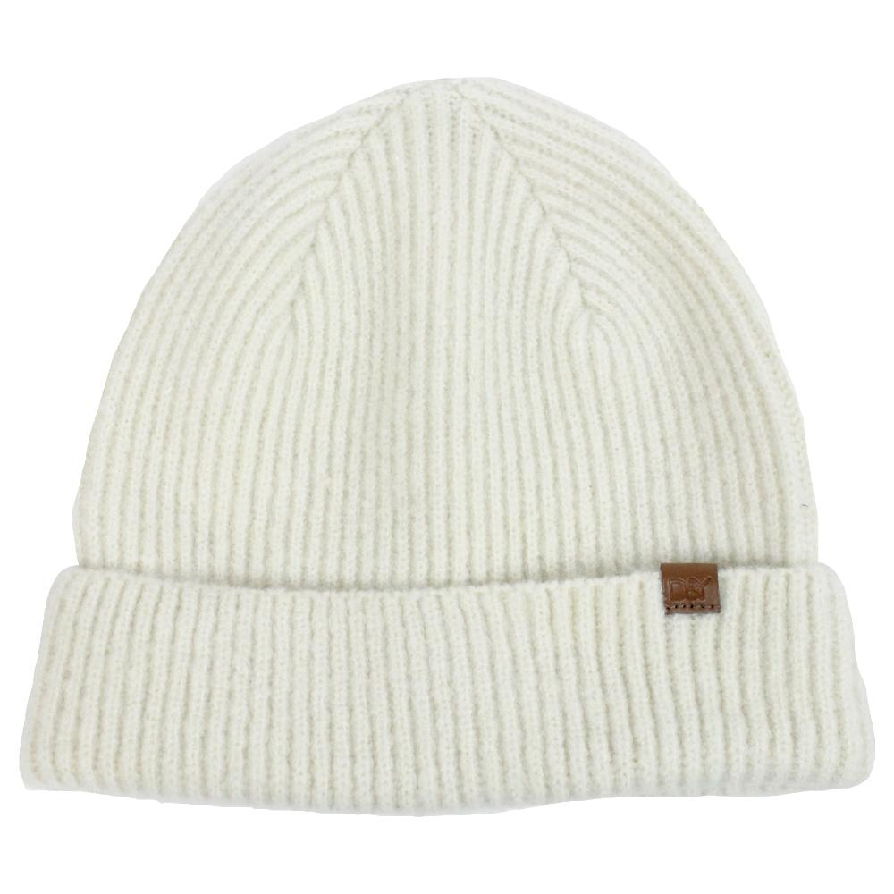 Off White Knit Beanie