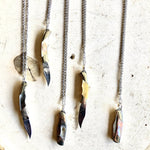 Tiny Mother Of Pearl Knife Necklaces