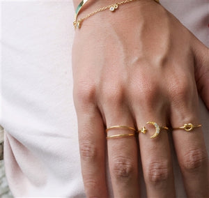 Gold Double Layer Ring