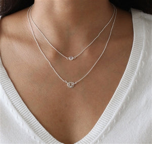 Sterling Silver Tiny Moonstone Neck