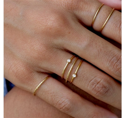 Gold Sparkle Stacking Ring