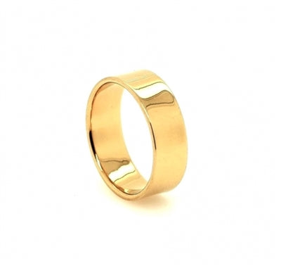 Gold Thick Band Ring