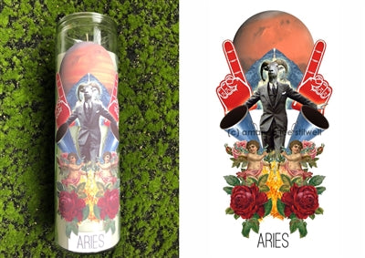 Zodiac Sign Altar Candles