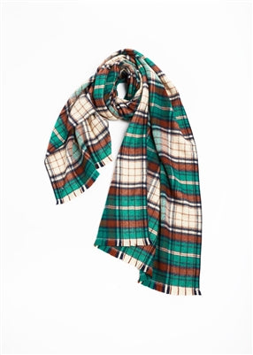 Green Plaid Scarf