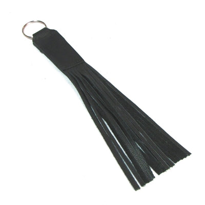 Black Leather Fringe Keychain