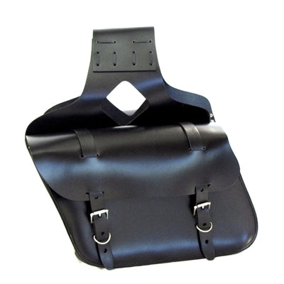 Black Leather Large Throw Over Saddlebags
