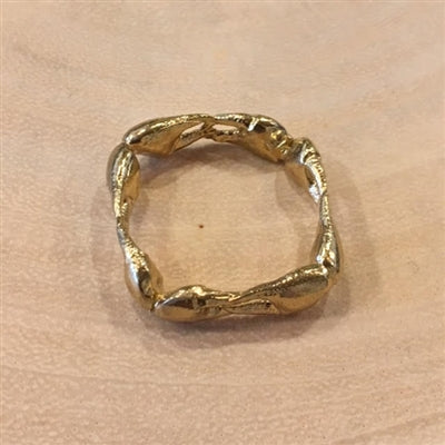 Bronze Sq Crab Ring