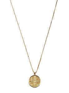 Gold Mexican Centavo Abundance Coin Necklace