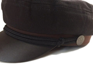 Black Cotton Greek Fisherman Hat