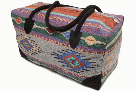 Multi Grey Southwestern Travel Duffle Bag