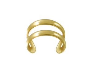 Double Line Gold Fill Ear Cuff