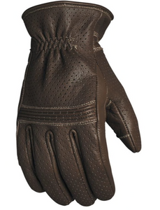 Perforated Wellington Gloves Tobacco